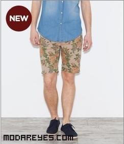 Bermudas con flores para hombre