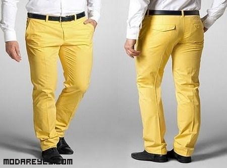 Sin supersticiones, pantalones amarillos