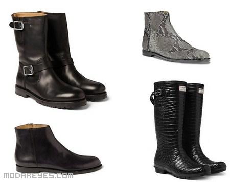 Botas de cuero para hombres modernos