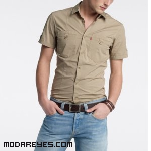 camisas color beige
