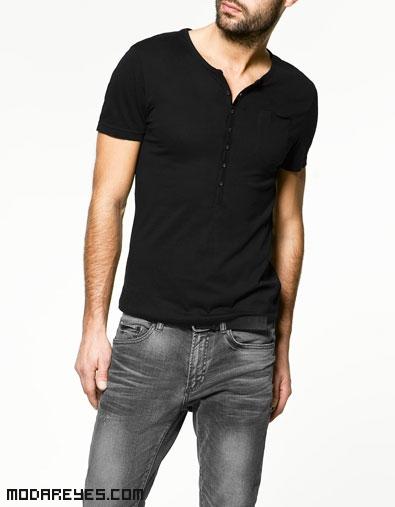 camisetas con botones para hombre