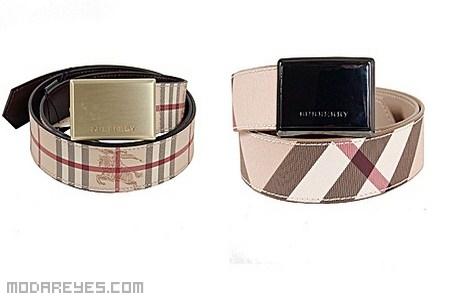 Cinturones Burberry para hombres elegantes