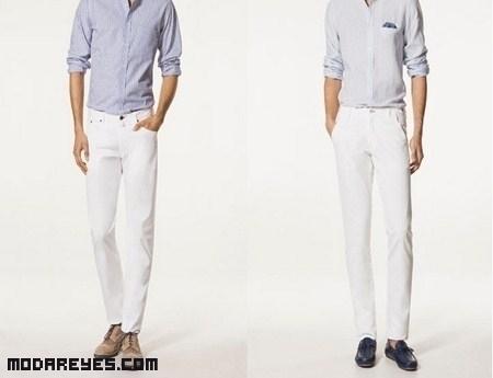 Pantalones blancos, un imprescindible este verano