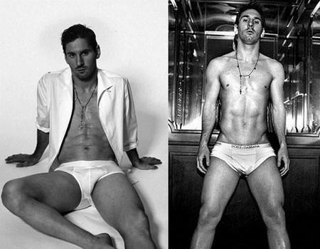 Futbolistas en campañas de ropa interior
