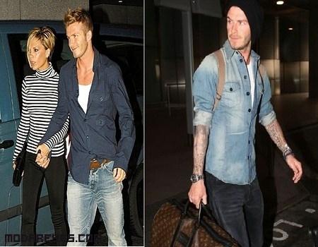 Un look casual de David Beckham