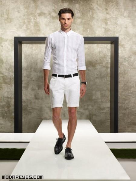 Hombres elegantes en color blanco