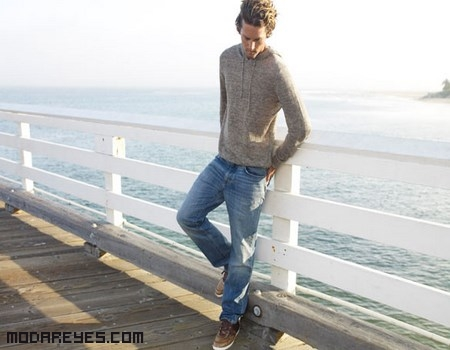 Jeans con jersey elegante