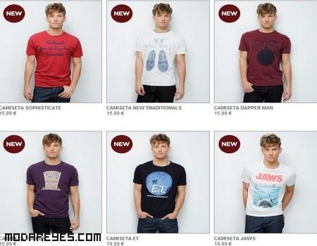 camisetas de colores para hombre