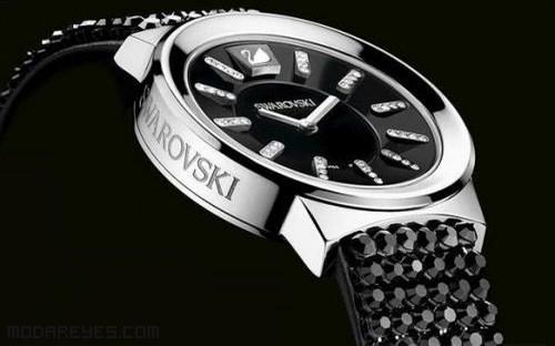 relojes con diamantes blancos y negros