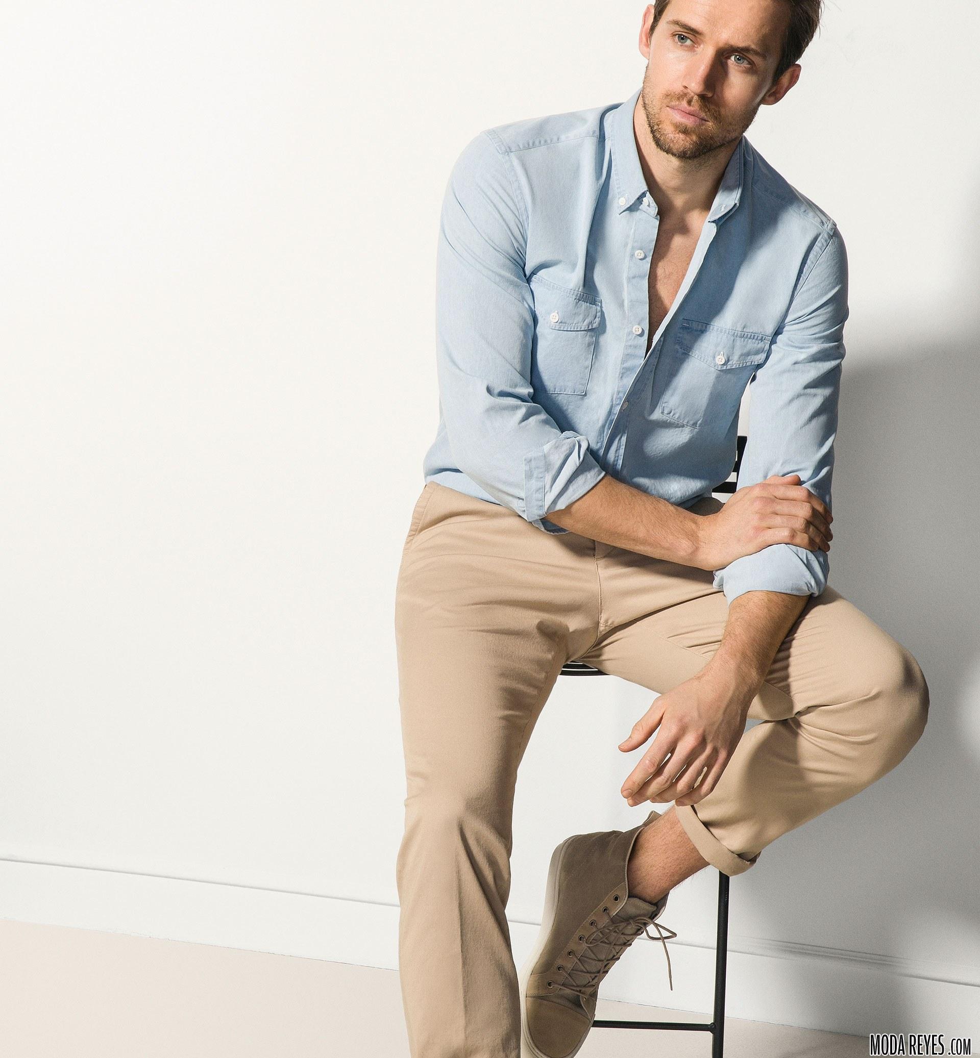 camisa y pantalón de moda por massimo dutti