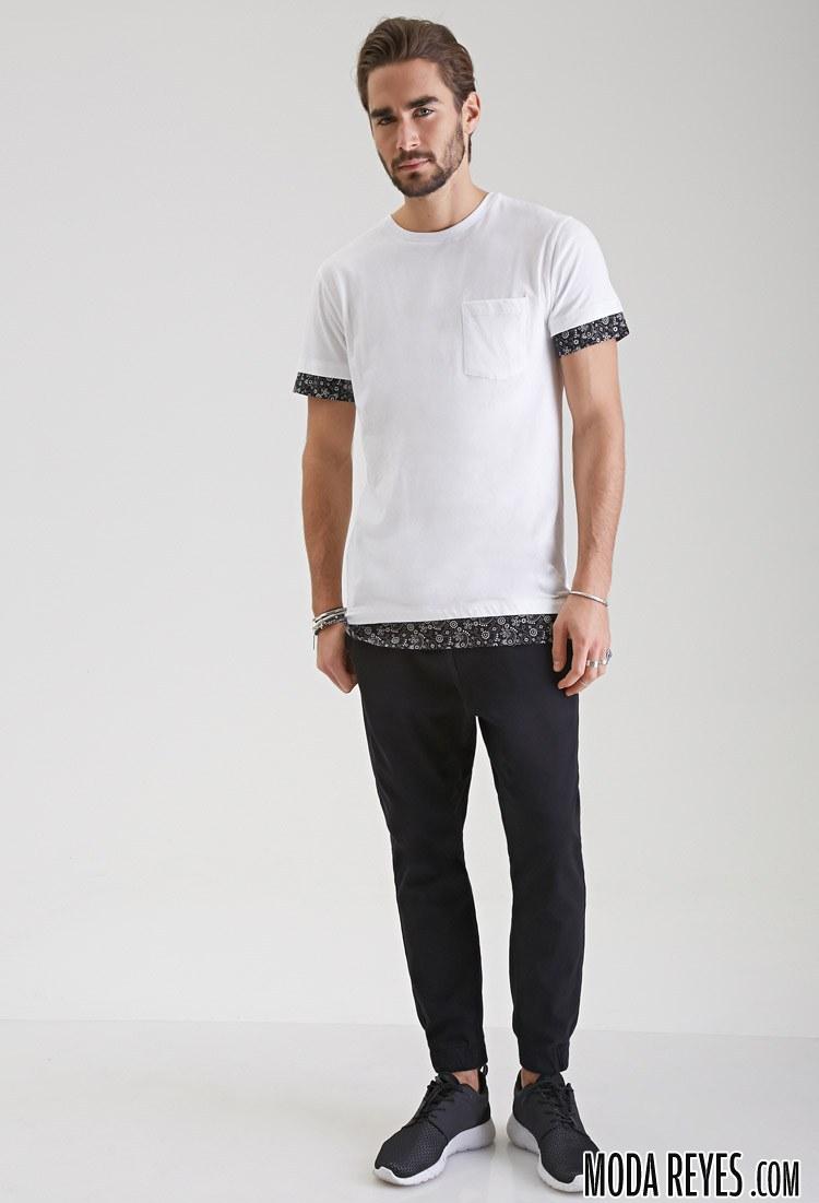 camiseta con ribeteados