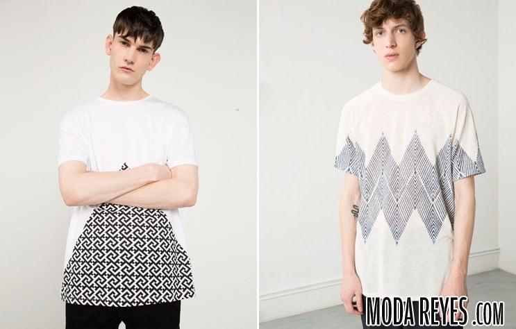 camisetas con estampado geométrico