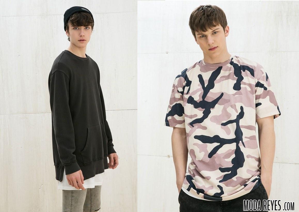 camisetas y sudaderas juveniles bershka