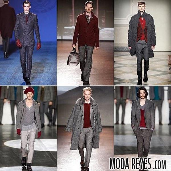color marsala en moda para hombres