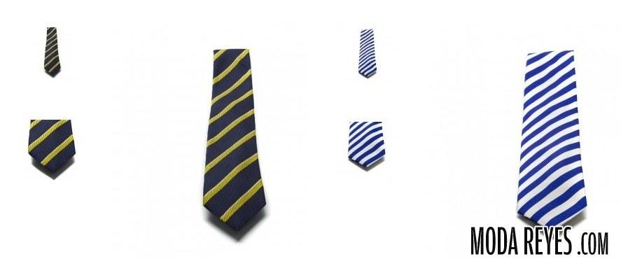 corbatas de rayas anchas
