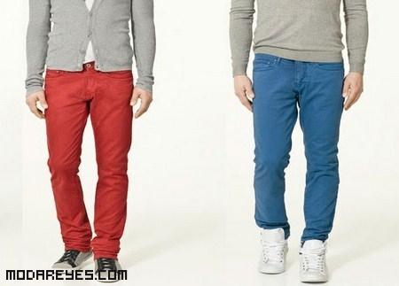 combinar jeans de colores