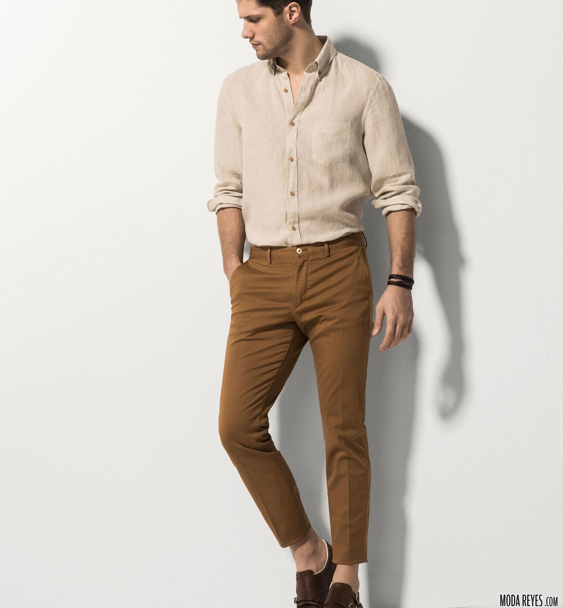 look de moda massimo dutti en beige