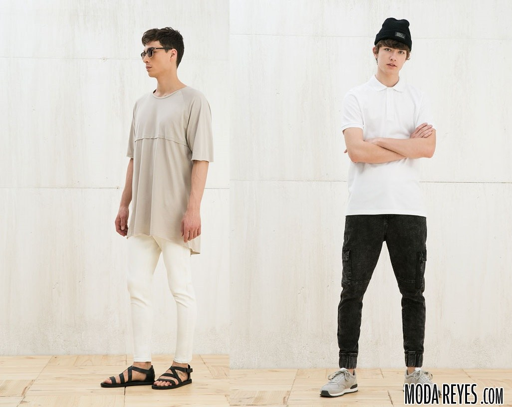 looks con camisetas y pantalones pitillo