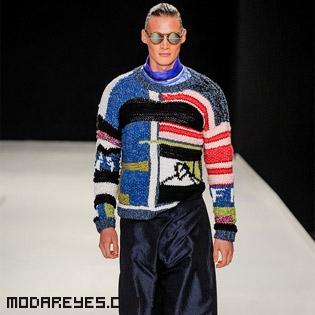 jerséis patchwork para hombre