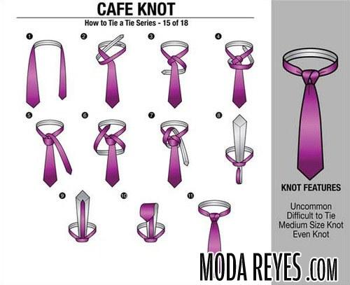 nudo de corbata café