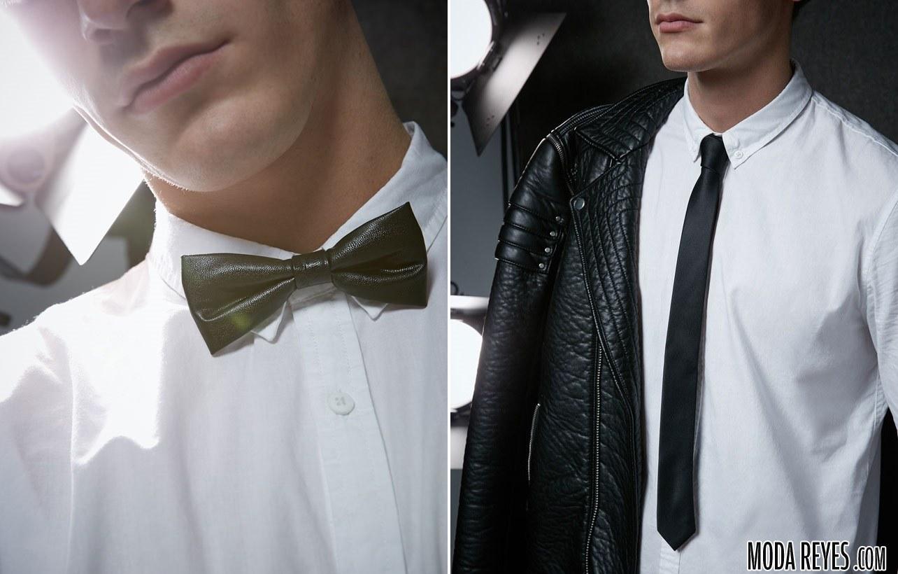 pajarita y corbata bershka