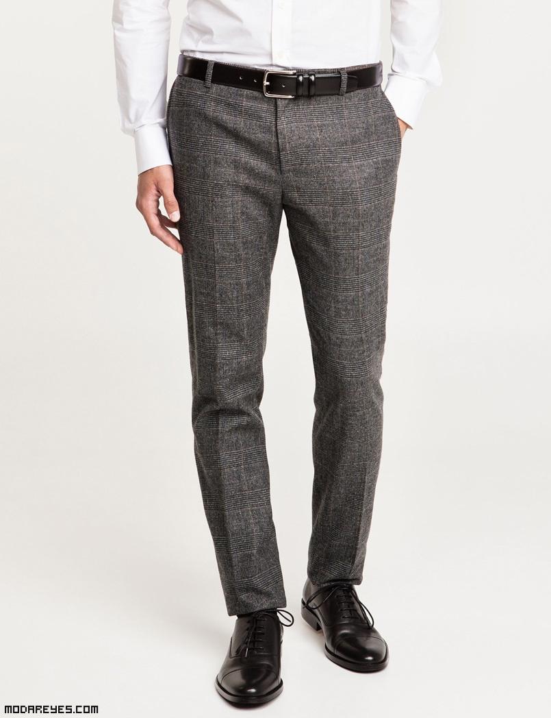 pantalones en color gris