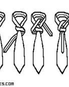 Cómo hacer un nudo de corbata en diagonal
