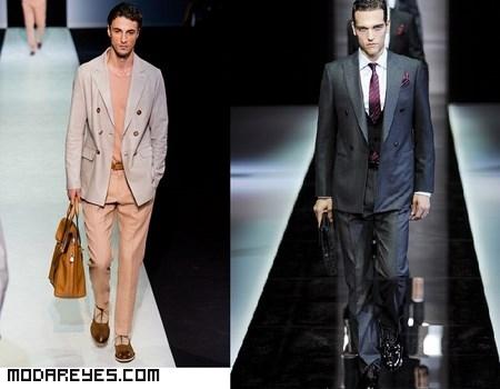 trajes de colores para hombre