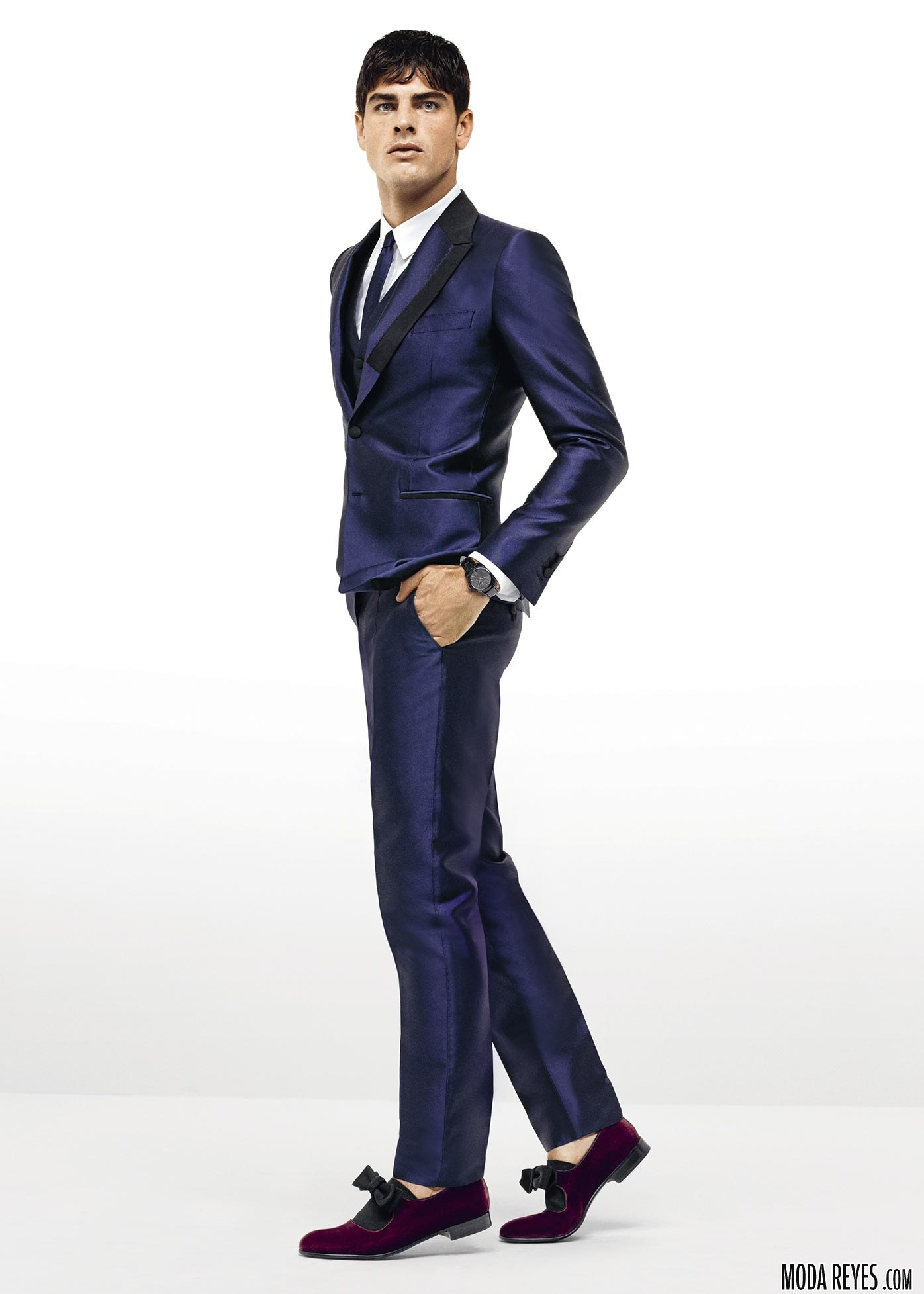 trajes azules de dolce&gabbana