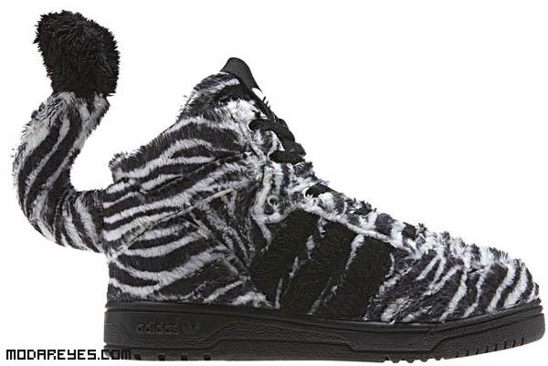 zapatillas de cebra para hombres